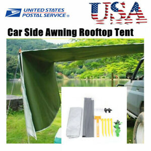 Large Car Side Awning Rooftop Tent Sun SUV Shade Camping Outdoor Travel Sunshade