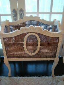 BEAUTIFUL FRENCH STYLE CANED FURNITURE PIECE ON LEGS ****SO PRETTY******