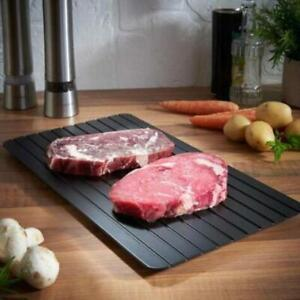 Fast Rapid Defrosting Tray Thaw Kitchen Quick Aluminum Meat Thaw Plate Frozen