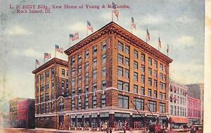 Rock Island Illinois LP BEST Building Young amp; McCombs Department Store 1909 PC