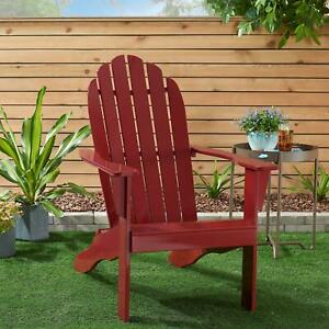 Wooden Adirondack Chair All weather Indoor Outdoor Patio Garden Lawn Rubber Wood