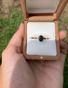 Brilliant Earth 8.4 x 6.4mm Teal Sapphire engagement ring