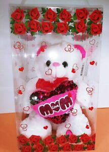Red Rose Artificial Flower Teddy Bear 9quot; Valentine#x27;s Day Birthday Day Gift $26.99