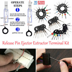 70X Set Pin Ejector Wire Kit Extractor Auto Terminal Removal Connector NEW