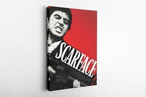Scarface Movie Poster Canvas Wall Art Home Decor Framed Art