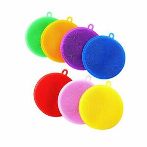 Silicone Dish Sponges 7 Pack Cleaning Sponges for Dishes Washing Silicone Dis