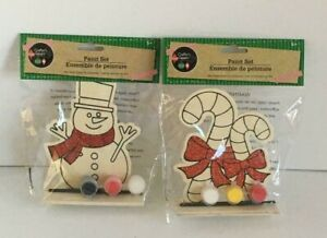 Crafter#x27;s Square wood Painting kits décor snowman candy cane