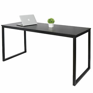 47quot; Computer Table PC Laptop Desk Wood Study Home Writing Desk Furniture Black