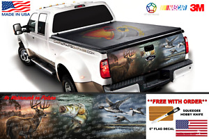 Hunting Deer Bass Fishing Duck Tailgate Wrap Vinyl Graphic Decal Sticker Truck