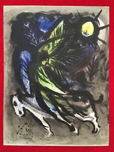 Marc Chagall The Angel Original Stone Lithograph1960 Fernand Mourlot Paris $349.00