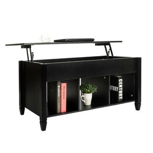 Lift Top Coffee Table Modern Furniture Hidden Compartment And Lift Tabletop Blac $133.99