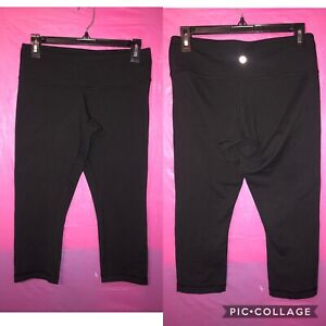 Lululemon Wunder Under Black Crops Capri Leggings Size 8 $22.00