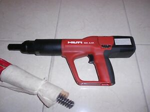 HILTI DX A 41 POWDER ACTUATED NAIL GUN HILTI DX 460 DX 5 DX 351