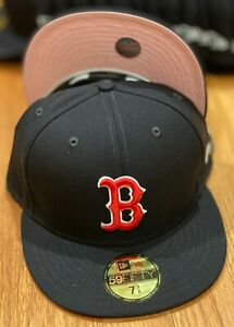Boston Red Sox OTC New Era QT 59Fifty Wool quot;Pinkyquot; Pink Under Visor NWT $39.99