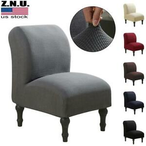 Stretch Armless Chair Accent Chair Cover Protector Slipper Chair Slipcover USA $19.09