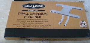 NEW Grill Zone 00366 Replacement H BURNER Small STAINLESS STEEL 188087