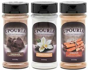 Upouria Coffee Topping Variety Pack Chocolate Cinnamon with Brown Sugar etc. $27.05