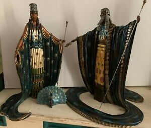 """Erte """"Hera and Zeus"""" with Peacock – Three Limited Edition Bronze Sculptures $7000.00"""