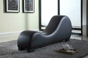 Leather Yoga Chair Couch Loveseat Furniture Sofa Chaise Lounge Contemporary New $409.99