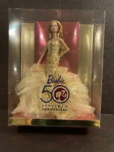 Brand NEW 50th Anniversary Barbie Gold Dress Robert Best Designer