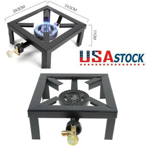 Outdoor Propane Camping Stoves Portable Single Cast Iron Burner LPG BBQ Cooker