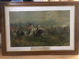 """""""The Battle Of Waterloo"""" ChromoLithography GBP 75.00"""