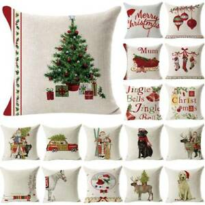 Christmas Pillow Case Santa Sofa Home Waist Throw Cushion Covers Xmas Decor New $7.78