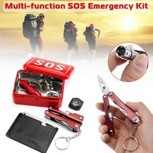 Emergency Survival Kit Multi Tool Camping Gear Equipment Outdoor Camping Hiking