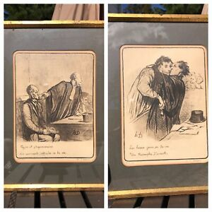 2 Honoré Daumier Original Drawings. Price For Both. Appraised 1000 1500 Each $999.00