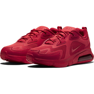 Nike Air Max 200 Mens Running Sportswear Shoes CU4878 600 University Red NEW $79.95
