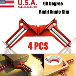 Woodworking 90Degree Right Angle Picture Frame Corner Clamp Clip Holder Hand Kit $15.98