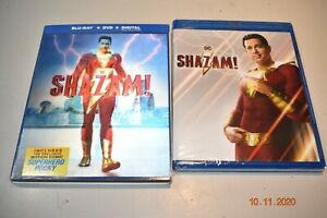 Shazam Blu ray DVD Digital amp; Lenticular Slipcover Brand New $9.99
