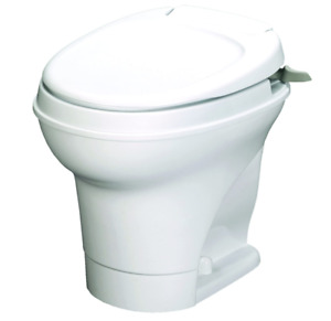 Aqua Magic V RV Toilet Hand Flush High Profile White Thetford 31667
