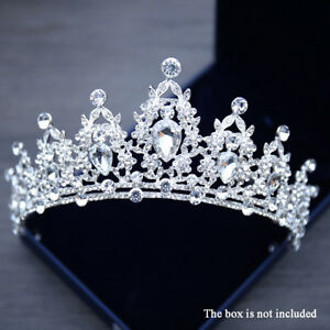 Queen Tiara Crown Wedding Bridal Party Prom Pageant Silver $14.99