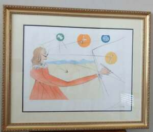 Framed Salvador Dali Etching Dalinean Prophecy Imaginations amp; Objects of Future $1300.00