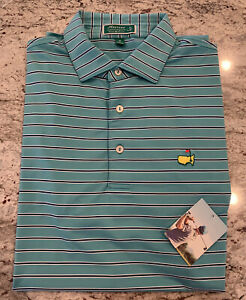 BRAND NEW WITH TAG PETER MILLAR Men's Masters Striped Polo Golf Shirt Medium M $84.99