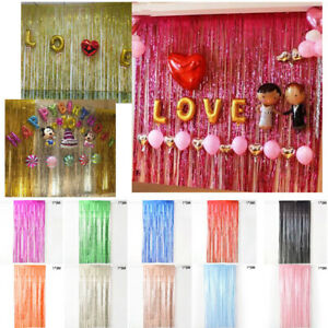 Wall Fringe Curtain Home decor Accessories Shiny Fringe Curtain Useful $9.54