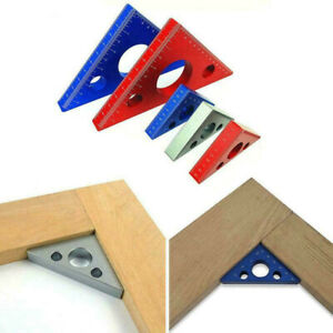 Aluminum Alloy Measuring Right Angle Triangle Height Ruler DIY Woodworking Guide $15.61