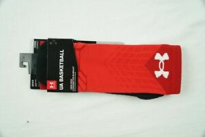 Under Armour Socks Unisexs Red Black Crew Socks NEW L $16.14