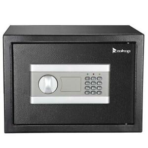 New Electric 13.8quot; Digital Home Office Hotel Money Cash Gun Wall Safe Box w Keys $48.89