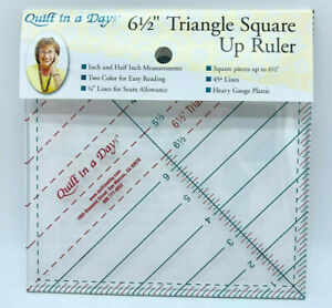 6 1 2quot; TRIANGLE SQUARE UP RULER BY QUILT IN A DAY $6.00