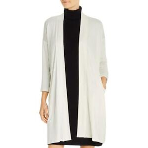 Eileen Fisher Womens Tencel Open Front Duster Cardigan Top BHFO 1647 $26.99