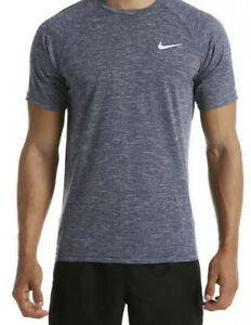Nike Dry Fit Heather Short Sleeve Hydroguard T Shirt UPF 40 Navy Blue Medium $20.00