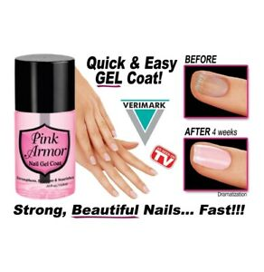 Pink Armour Nail Gel Polish Remedy Fix Protective Layer Keratin Gel NEW $8.49