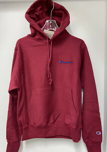 New CHAMPION Mens Size SMALL Red Hoodie Reverse Weave Sweatshirt $17.99