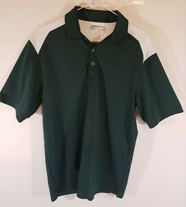 Nike Dri Fit Golf Shirt Size Small Hunter Green and White Polo $9.99