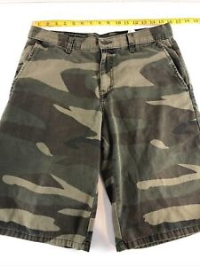 Dickies Camouflage Shorts Men Size 30 Camo Relaxed Casual Flat Front Work