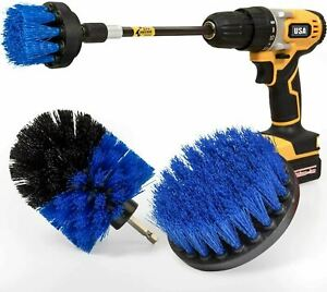 Drill Brush Power Scrubber Kit Cleaning Brush Extended Long Attachment 4 Pack $12.99