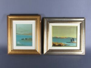2 Vintage Paintings Painted On Masonite With Signature Guiot Period Xx Century $68.88