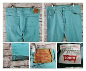 Levi's Mens 501 XX Selvedge Teal W40 L30 Red Tab Button Fly Actual 38x28